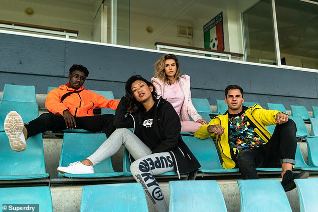 Big names: Matt (right) starred in the campaign alongside Love Island's Shelby Mills (second from right), YouTuber Kristine Fernandez (second from left) and rapper iiiCONIC (left)