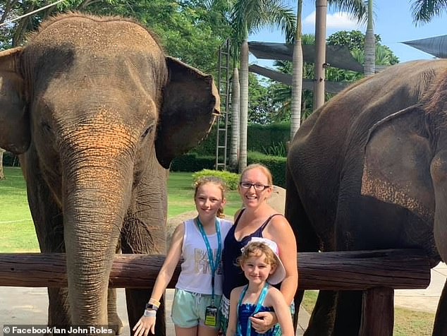The family has been in Bali for about four days, it was their first time visiting Indonesia