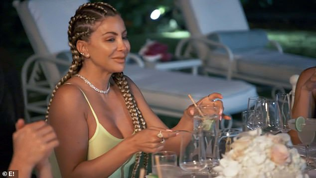 Good friend: Larsa Pippen joined Kourtney and her friends on the girls trip to Turks and Caicos