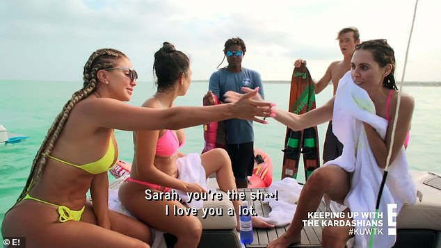 Making up: Larsa later made a point to make peace with Sarah