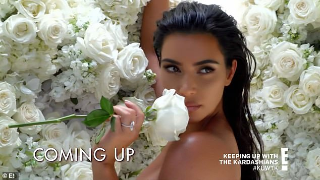 Bridal collection: The reality star also released a bridal collection for KKW Beauty to mark her wedding anniversary