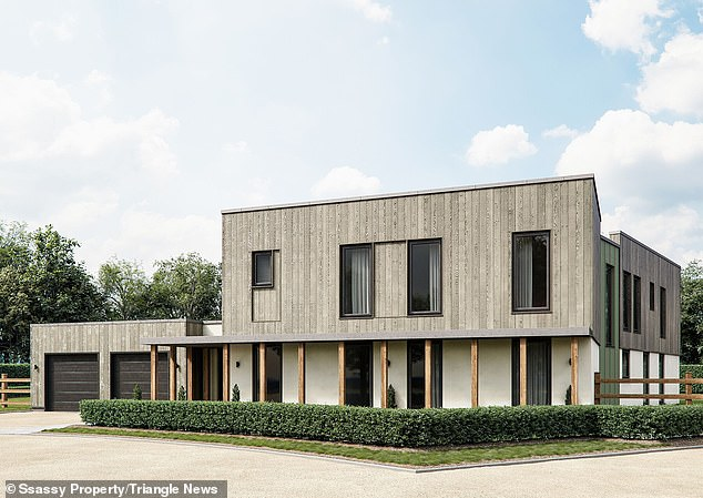 Twenty-five of the eco-friendly homes are being constructed near the village of Southmoor, Oxfordshire, in a 7.7 acre development dubbed 'Springfield Meadows'