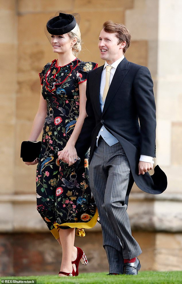 Backlash: The star was blasted by Twitter users who claimed that as a multimillionaire, he would never be able to understand the impact Brexit would have (pictured with wife Sofia Wellesley at the wedding ofPrincess Eugenie and Jack Brooksbank)