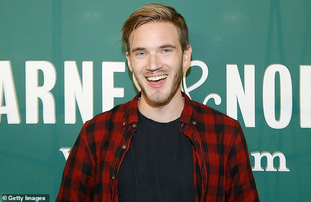 YouTube starPewDiePie (pictured in August) has been censored in China after mocking memes used by Hong Kong protesters that likened Chinese President Xi to Winnie the Pooh