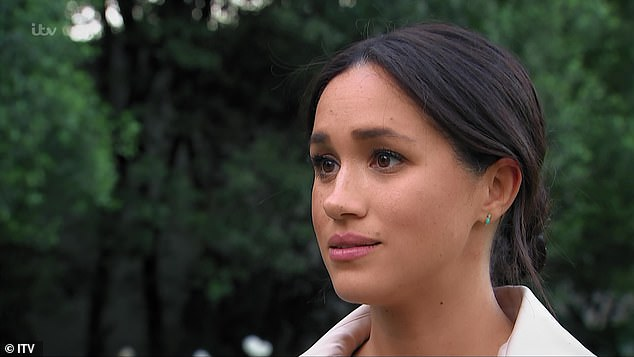 Emotional Meghan: Judi James says the Duchess's 'very emotional display at the end of the documentary was in keeping with the sense of honesty and emotional openness that Harry had previously shown'