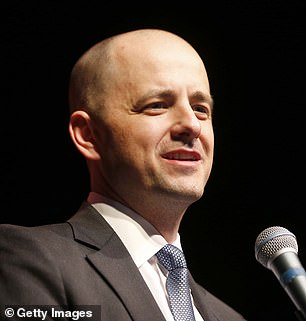 Graham also brought up his past admission that he did not vote for Trump in 2016 and instead cast his ballot for spoiler independent candidate Evan McMullin (pictured), who he said he wouldn't recognize 'if he walked in the door'