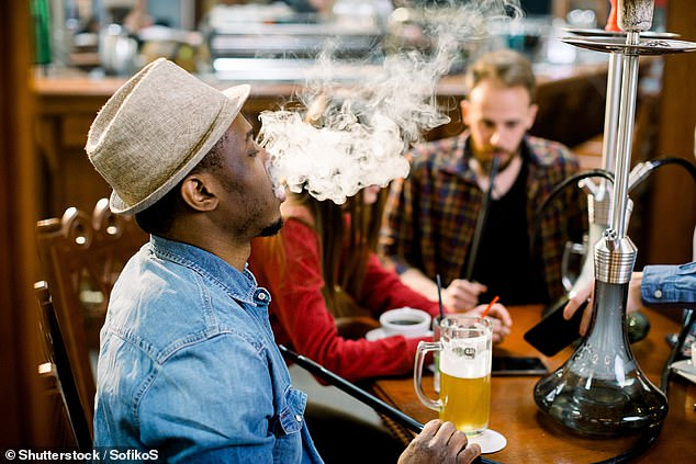 A comment on the campaign video reads that smoking shisha is 'awesome. Cheaper than cigarettes. And less tax. Good insight.' (stock image)