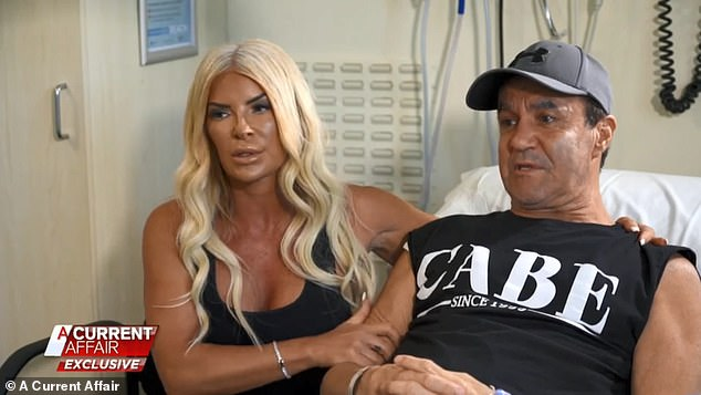 On Monday, the father-of-three revealed to A Current Affair that watching his daughter get married motivated him to make it to her Sydney wedding over the weekend. Pictured with wife of 23 years Suzee