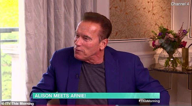 Better with age:He said: 'I feel maybe like I'm 50 years old now. Not like I'm 72. I did a lot of the stunts and the kicking and the fighting and I didn't run out of energy'