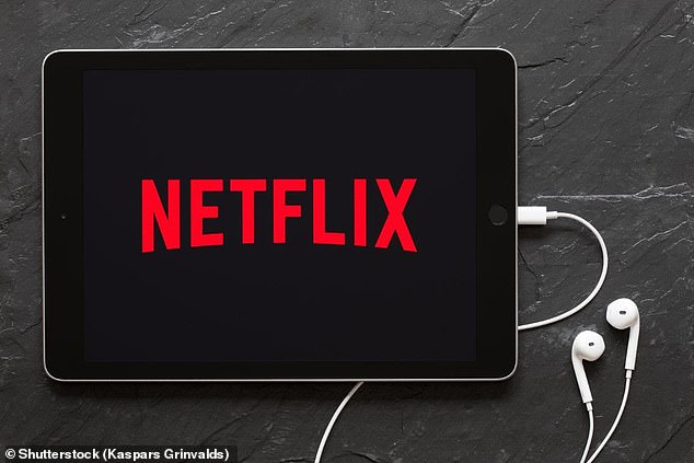 Netflix currently limits users to watching two screens at a time on a normal subscription but, as long as they don't watch at the same time, more people can share the same login details (stock image)