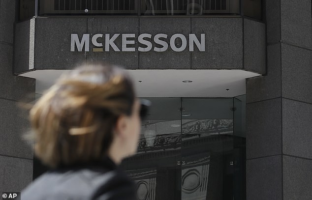 Drug distributor McKesson's San Francisco office is pictured above. The drug distributor was among four companies that agreed to a settlement in the opioid crisis that has led to 400,000 overdose deaths since 1999.