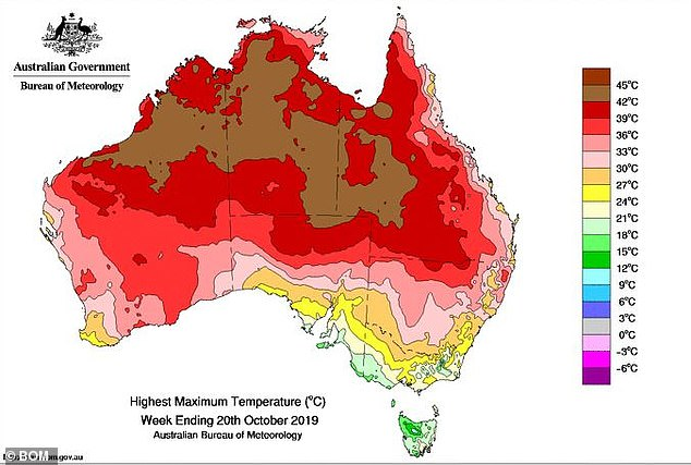 Hot air is drifting down from the Top End to southern parts of Australia, causing the mercury to spike in the next few days