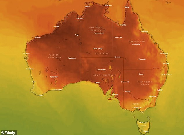 Australians have been told to brace for a heatwave that is set to sweep across swathes of the country this week, sending temperatures soaring past 30C in most major cities