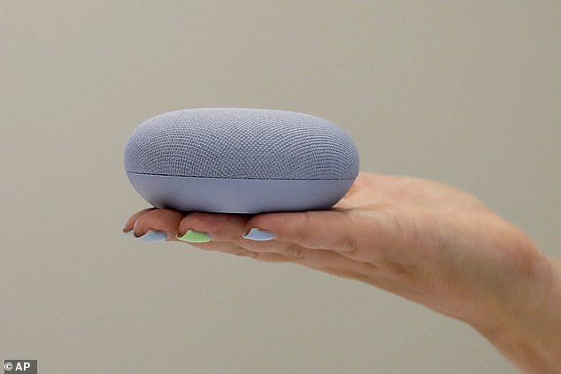 Google's brand of smart home products like its Nest Mini (pictured above) are among the most popular voice-controlled products on the market (File photo)