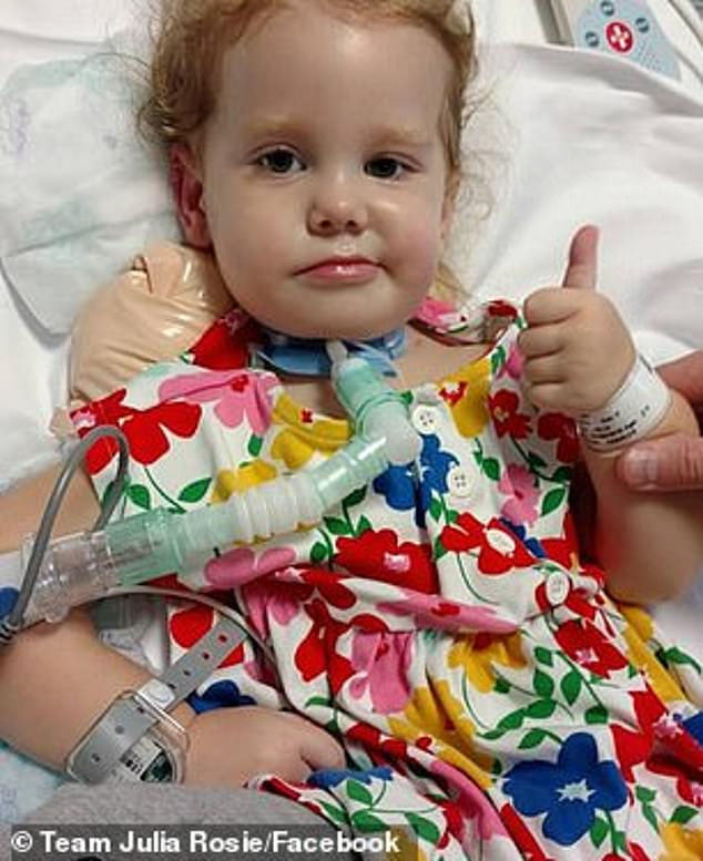 Julia Payne of Chicago, Illinois, was two when she was diagnosed with AFM, a mysterious polio-like condition that scientists now believe is triggered by a common virus