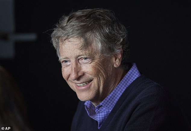 Microsoft's principal co-founder Bill Gates (pictured above) is the second wealthiest American, with a net worth of about $106 billion