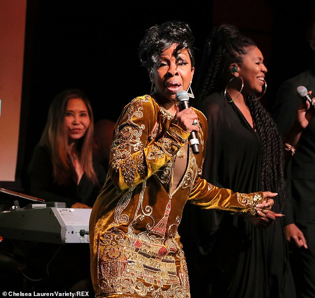 Birthday girl: Gladys, who cut her first single in 1962, performed for her guests at the bash, which comes six moths after her actual birthday, May 28