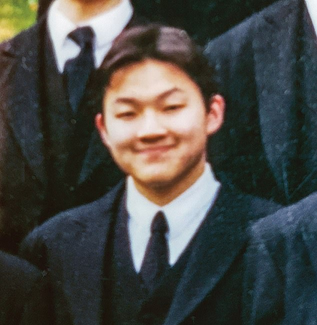 Jho Low is pictured while attending Harrow School, a prestigious public school for boys in Harrow, London,  founded in 1572