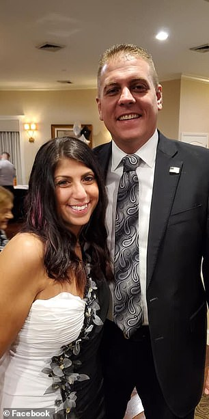 Espositoposed with photos with politicians and law enforcement officials including Indian River County Sheriff's Office Major Eric Flowers (pictured) at fancy charity event earlier this month