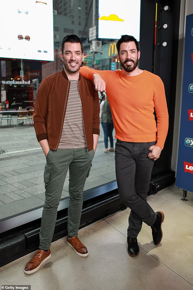 Hard work: Jonathan rose to fame alongside his twin brother Drew as they co-hosted the popular Property Brothers home renovation show; seen in September