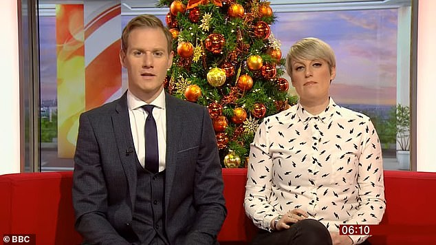 McGovern's BBC Breakfast colleague Dan Walker (left) led the congratulatory remarks, tweeting: 'She will be a big loss but she'll also be fantastic at her new gig and we wish her all the best'