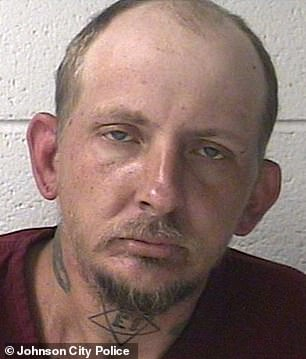 A white man named Tupac A Shakur, 40, was arrested in Tennessee this weekend (pictured in his mug shot)