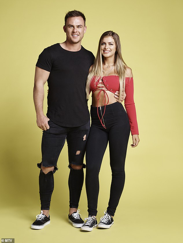 Old hands: The youngest couple (in terms of time together), Emily and Kory have been together for four months but both have been on reality TV in the past