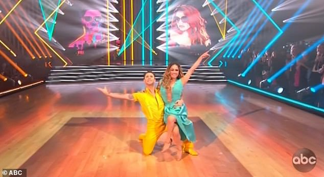 Quickstep dance: The Fifth Harmony singer and Sasha performed a quickstep to A-Ha's Take On Me