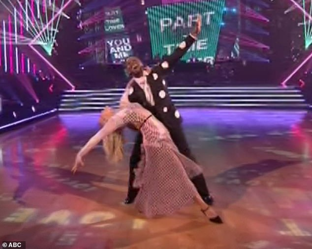 Fast dance: Kel Mitchell, 41, always dazzled the judges, but his partner, Witney Carson, 25, wanted him to speed up his quickstep to Stevie Wonder's Part-Time Lover