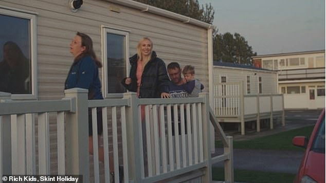 This budget holiday was a far cry from what Simona was used to, with the young heiress (pictured centre, with the family) admitting to spending £1,000 a night during her usual holidays in the South of France