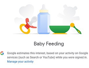 Based on search history, detail includes the brand of car you might buy and even if you're interested in baby feeding