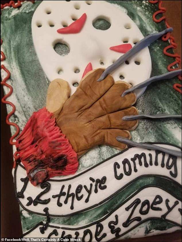 Wanting to depict Freddy Krueger from the Nightmare on Elm Street horror film series, this cake fell slightly flat with Facebook users from all over the world feeling it just wasn't scary enough