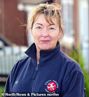 Administrator Alison Dutton, 56, pays £100 a year fora piece of dog-mess-covered scrub