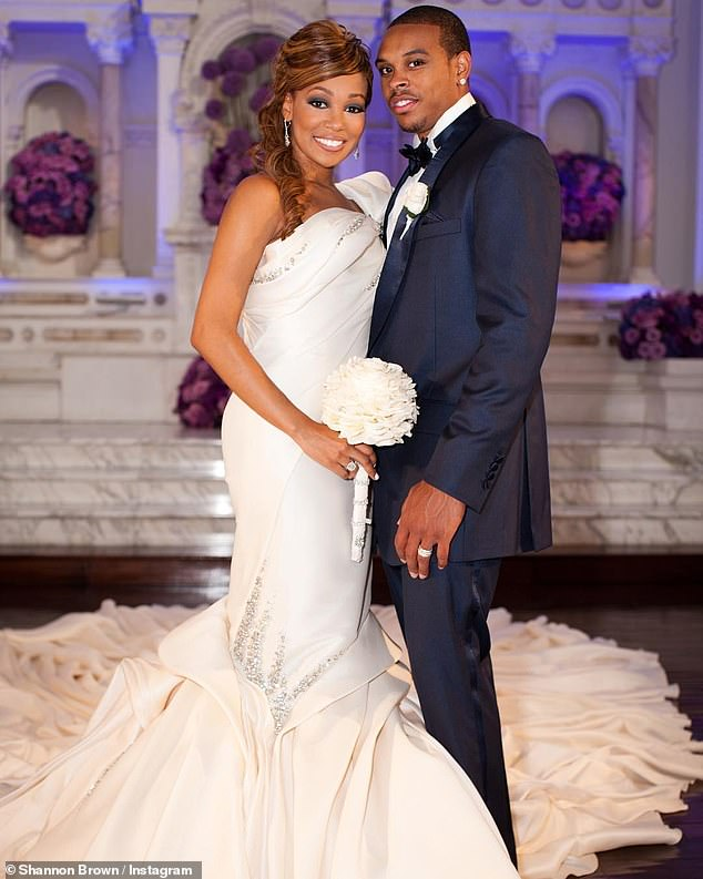 Wedding bells: Monica and Brown were married in a private LA ceremony in November 2010