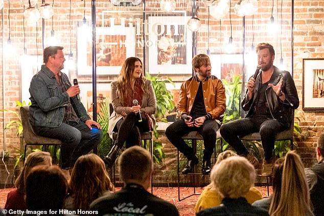 Fun time: The group also had a listening and Q&A Session in support of their new album Ocean at the restaurant Sinema