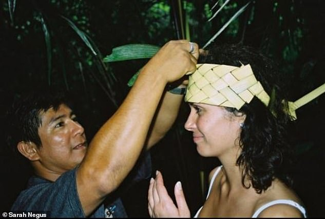 After meeting the Shaman, Sarah travelled with her to Peru (pictured) where she learned from indigenous Shamans in the Amazon jungle and drank hallucinogenic tea
