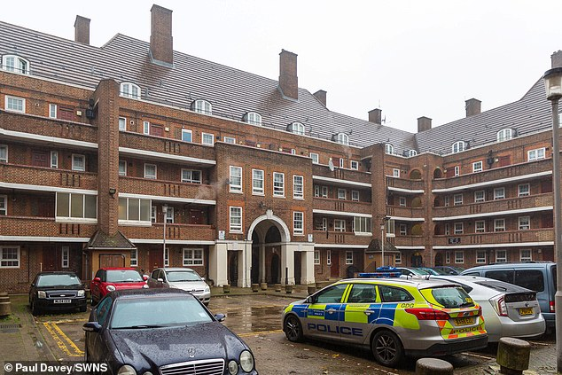 A murder hunt has been launched after a woman was found strangled to death in the flat