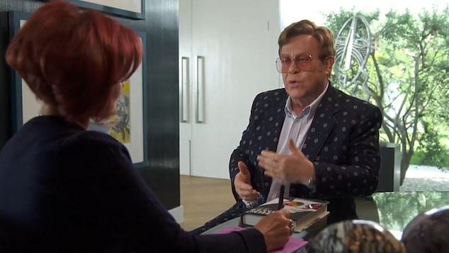 Sir Elton, 72, opened up to Sharon Osbourne on her American chat show, The Talk