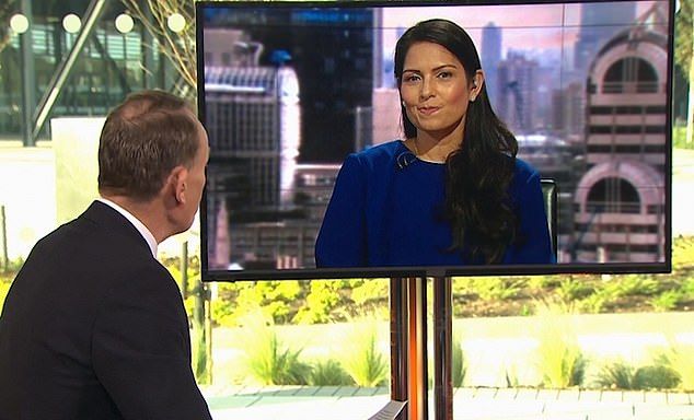 Andrew Marr has now apologised to Priti Patel for accusing her of 'laughing' in an interview about Brexit on his TV show