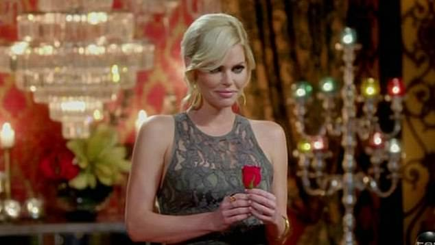 Subtle: In previous seasons, the men who have ended up with a rose have all worn magnets on their jackets to keep the the flower in place. Pictured: 2017 Bachelorette Sophie Monk