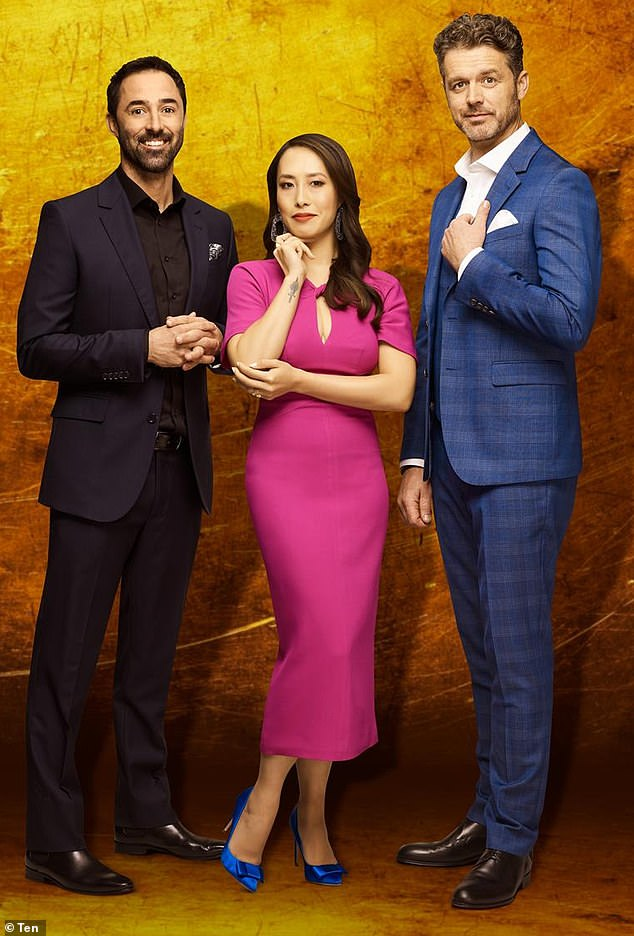 New era: Rising culinary stars Andy Allen (left), Melissa Leong (centre)and Jock Zonfrillo (right) have been announced as the MasterChef replacements