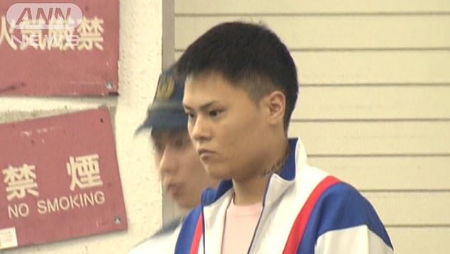 Hiro Kawakami (pictured), 23, was escorting two women around Tokyo's Kabukicho red light district with another bar host when he allegedly assaulted one of them in a karaoke venue along the street