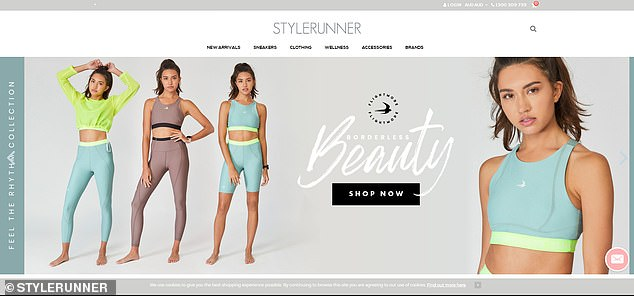 During the first three years of business, Stylerunner (website pictured) grew by 1736 per cent