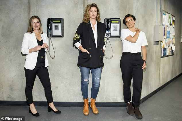 Exciting! Kate Box (centre) and Zoe Terakes (right) are also set to star alongside Jane (left) in the final season of Wentworth