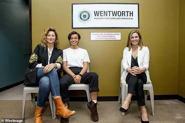 Oh, no! Earlier this month, Foxtel confirmed that the upcoming ninth season of Wentworth will be the last (pictured left to right:Kate Box, Zoe Terrakes and Jane Hall)