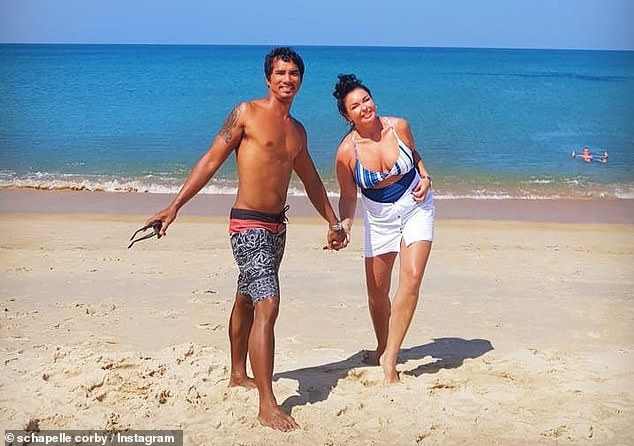 Corby (right) is in a long-term relationship with Ben Panangian (left), 38, an Indonesian surfer she first met at a church service at Kerobokan Prison in 2006.
