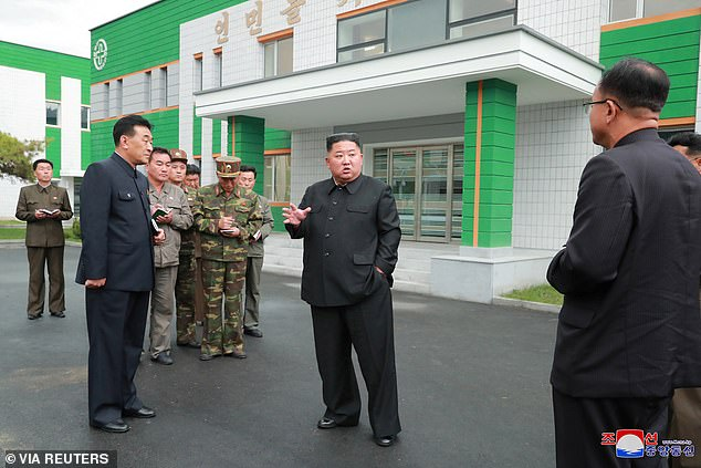 He visited the medical centre with the WPK Central Committee just over a year after he said the institution lacked modernisation, on the same day as North Korea's official Kim Yong Chol revealed the countrygetting increasingly angered by America's demands for a 'final and fully verified denuclearisation' while pushing other UN countries to strengthen their sanctions