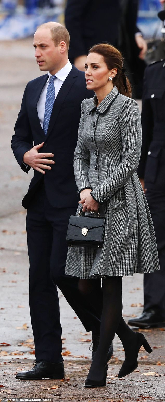 Prince William and Kate Middleton arrived at a tribute site near Leicester City Football Club King Power Stadium to pay tribute to those who were tragically killed in the helicopter crash at Leicester City Football Club's King Power Stadium on November 2018
