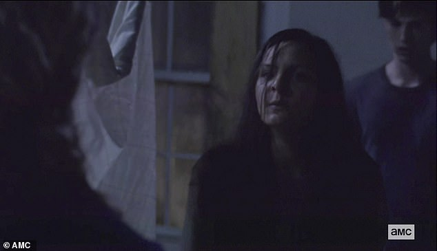 Outside attack: The bullies at night surrounded Lydia and attacked her