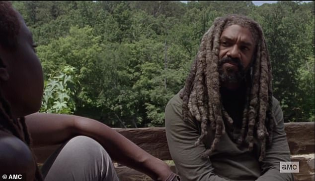 Opening up: Ezekiel and Michonne opened up about their lost loves